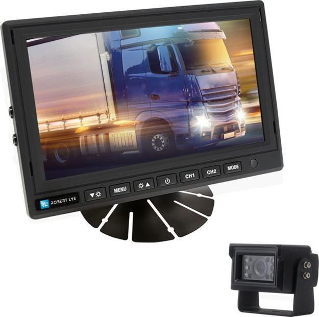 Image sur Kit de rétrovision écran 7 pouces numérique - Caméra IP69K